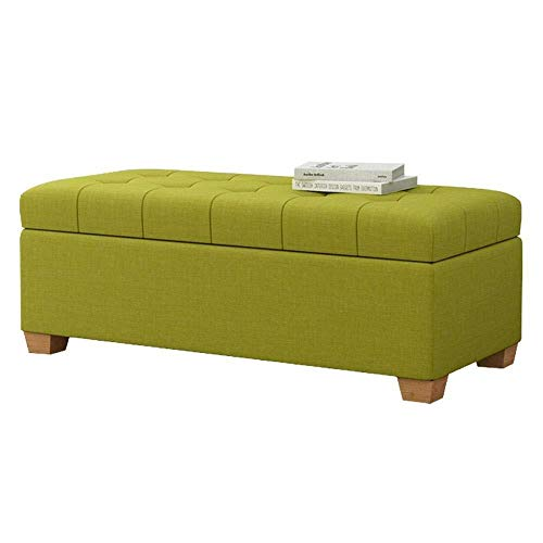 Storage Benches Storage Stool European Style Shoe Change Stool Shoe Store|clothing Store Rest Stool Home Long Stool|Storage Box Bedroom Bed End Stool ( Color : Matcha Green , Size : L120×H40×W40cm )