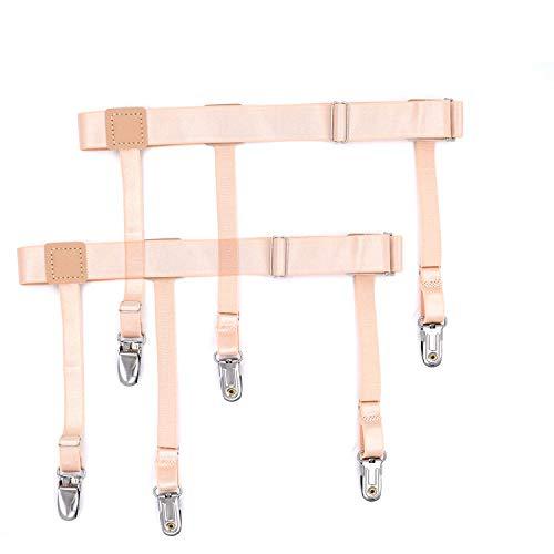 LLZGPZBD bretels voor heren, overhemd, ring, antislip, met nylon materiaal