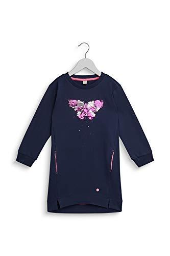 ESPRIT KIDS Mädchen RP3102308 Knit Dress Kleid, Blau (Navy 490), (Herstellergröße: 116+)