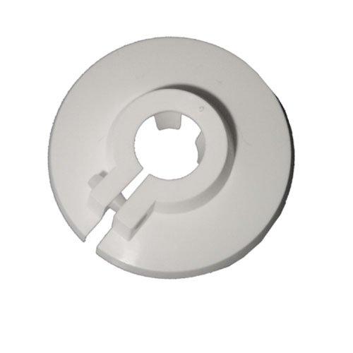 Cornat Kunststoff Klemmrosetten, 18 mm, weiß, T384008
