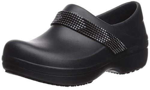 Crocs womens Women's Neria Pro Ii | Slip-resistant Work and Nursing Shoe Clog, Multi/Black, 8 US