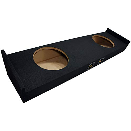 "Compatible with 2015 - UP Ford F-150 Super Crew Cab Truck Dual 12"" Sub Box Subwoofer Enclosure"