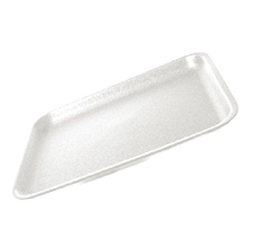 CKF 20SW, 20S White Foam Meat Trays, Disposable Standard Supermarket Meat Poultry Frozen Food Trays, 125-Piece Bundle