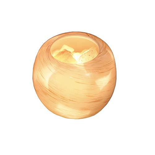 BKKJW lámpara del Himalaya de cristal natural tallado a mano luz nocturna con interruptor de atenuador de diseño de lavabo (1100g)