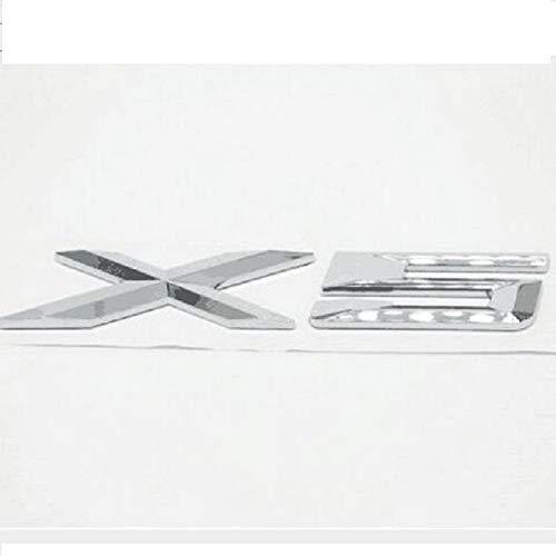 Emblema di ricambio 3D adesivo posteriore cromato per X1 X3 X5 X6 GT (X5)