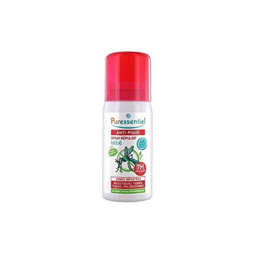 Puressentiel - Anti Pique - Spray Répulsif et Apaisant Bébé - Zone infestées tempérées et tropicales - Actif 100% d'origine naturel - 0% d'insectifuge neurotoxique - 60 ml