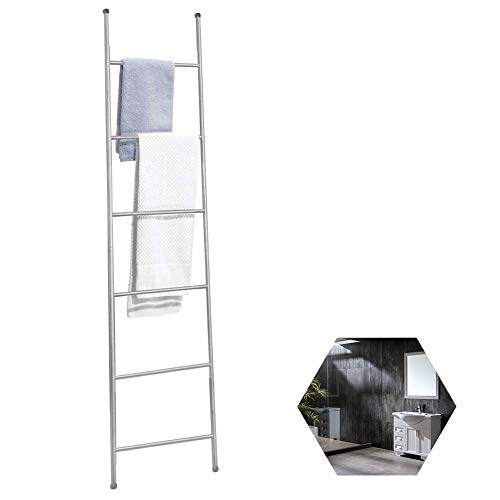 Why Should You Buy Quilt Display Rack Ladder Black Metal Leaning Blanket Holder Stand with 6 Rungs D...