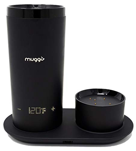 Muggo 12 oz Temperature Control Mug with 3 hour Battery Life, Tea, Coffee, Hot Beverage Warmer,...