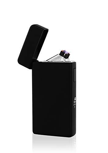 TESLA Lighter TESLA Lighter T13 Lichtbogen Feuerzeug, Plasma Double-Arc, elektronisch wiederaufladbar, aufladbar mit Strom per USB, ohne Gas und Benzin, mit Ladekabel, in edler Geschenkverpackung Silber Silber