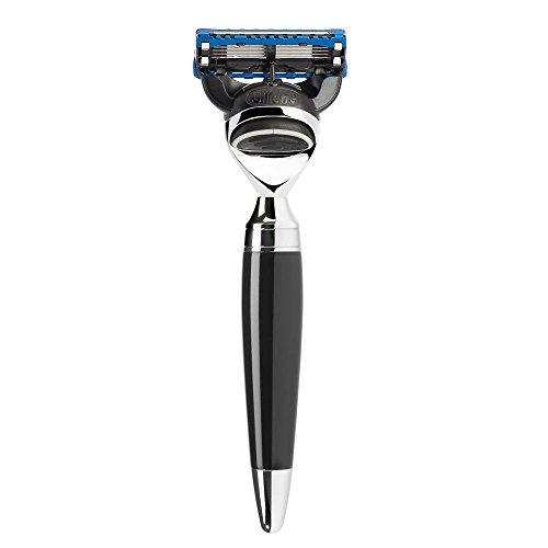 MÜHLE - Nassrasierer - STYLO Serie - kompatibel mit Gillette® Fusion - Edelharz schwarz