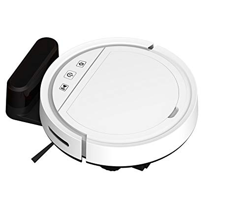 Fayet Uk Robot Vacuum Cleaner- 2500Pa High Suction with Beater Brush, Auto Self-Charging, Quiet, Drop Sensor, Works with Alexa, Google+ & App Connect, Cleans Hard Floors to Medium-Pile Carpets (White)