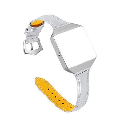 HEMOBLLO compatibile con cinturino fitbit blaze in pelle con montatura in metallo classica sostituzione cinturino cinturino in vera pelle fitness