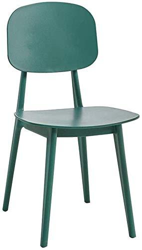 QTQZDD stoelen robuuste, weerbestendige, stapelbare tuinstoel van kunststof voor etens-, banket- en bruiloftsdoeleinden met een inhoud van 300 pond (kleur: zwart) 4 4