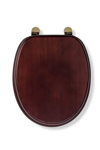 Croydex, Sedile WC resistente in legno, Mahogany