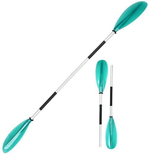 Gatuxe Remo de Kayak, Remo de Doble Extremo Transparente Desmontable, portátil, Ligero, Suministros de Kayak, Accesorio de Remo para Kayak para Canoa(Green)