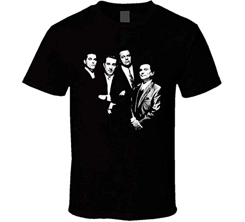 fshsh Camisetas y Tops Hombre Polos y Camisas T Shirts Goodfellas Classic Gangster De Niro Movie T-Shirt for Men