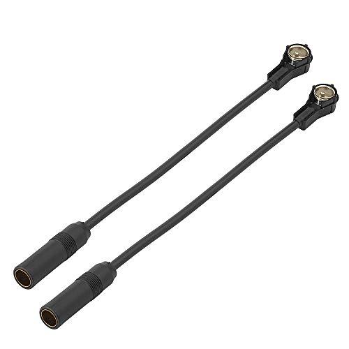 Eightwood DIN ISO Câble Adaptateur Antenne FM Adaptateur DIN Socket à ISO Plug Pigtail Câble Antenne Voiture RG58 7.8inch 20 cm 2 Pièces pour Blaupunkt Autoradio CD/DVD TV Tuner
