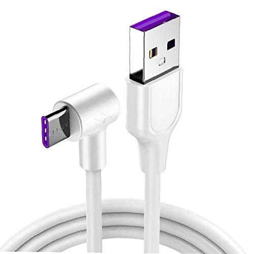 Odoukey Cable de Datos USB Cable Cargador rápido estupendo del convertidor de Cable para el Cable de Datos USB Tipo C Cable USB USB-CMicro Carga de Alambre 1M Blanca