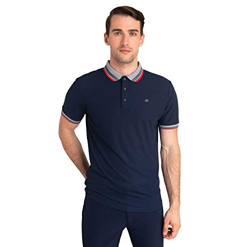 Calvin Klein Herren Spark Polo Golf-T-Shirt, Navy, XX-Large