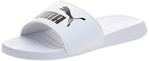 Puma - Popcat 20, Zapatos de Playa y Piscina Unisex Adulto, Blanco (Puma White-Puma Black 02), 44.5 EU