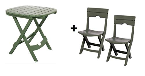 Adams Manufacturing 8550-01-3700 Quik-Fold Cafe Table, Sage...