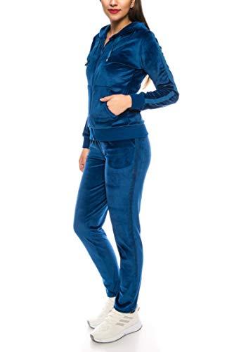 Crazy Age dames pak vrije tijd sport dagelijks gebruik | fluweel Nicki Velvet | knuffelig sportief elegant | XS - XL