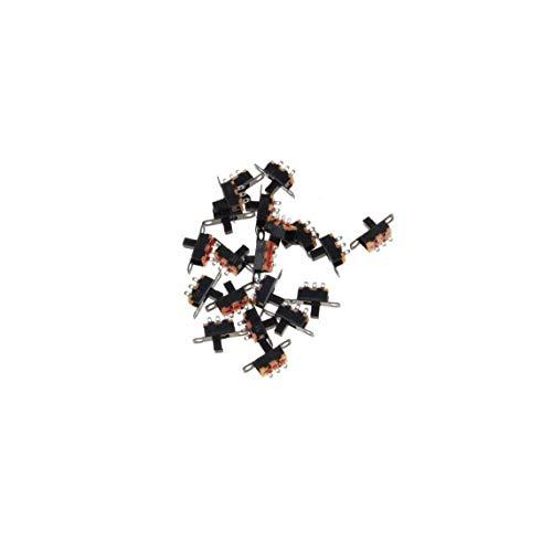 2 Posición 3 Pines Micro Spdt Pcb Miniatura Interruptor Deslizante Interruptor Con Bloqueo De Palanca Para Las Pequeñas De Bricolaje De Energía Proyectos Electrónicos 20pcs (negro) Regalos Para Los