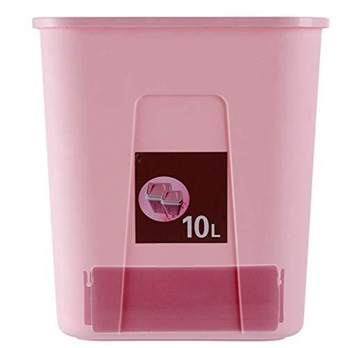 Vuilnisemmer plastic vuilnisbak intieme vuilniszak opslagruimte en schommel design woonkamer badkamer keuken Huhero (kleur: roze Maat: -) roze