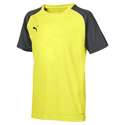 PUMA Cup Training Jersey Core Jr T-Shirt, Fizzy Yellow-Asphalt, 152