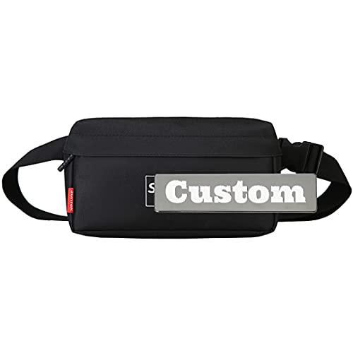 Nome personalizzato Corda Slipping Bag Casual Daypack Uomo Donna Piccolo Escursioni daypack leggero (Color : Black, Size : One size)