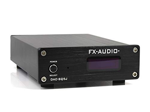 FX-AUDIO- DAC-SQ5J Burr-Brown PCM1794A搭載 ハイレゾDAC (ブラック)