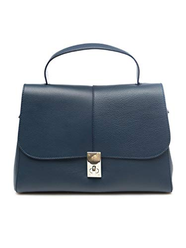 Tosca Blu TS20OB281 CAMOMILLA - Bolso de piel para mujer, color azul Azul Size: Talla única