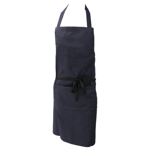 Dennys Damen/Frauen Polycotton Küchenschürze mit Tasche/Küche Arbeitskleidung (Einheitsgröße) (Marineblau)