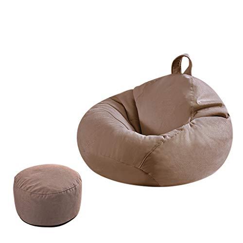 SD Bean Bag Chaise Un Pouf Grande Fauteuil avec Mousse Ultra Confortable avec Poignée avec Repose-Pied pour Enfants Et Adultes 90 * 100 Cm