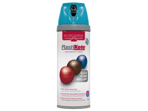Plasti-kote 21118 400ml Premium Spray Paint Gloss - Mediterranian Blue