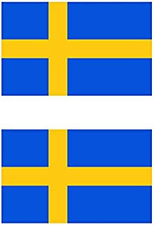 Two Pack Swedish Flag Sticker FA Graphix Decal Self Adhesive Vinyl Sweden SWE SE