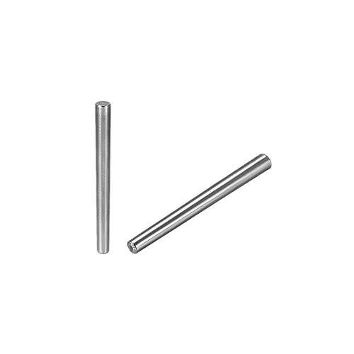 sourcing map 10x Schleifen 50mm Länge 1:50 Kegelstift GB117 Kohlenstoffstahl 4mm X 5mm Enddurchmesser