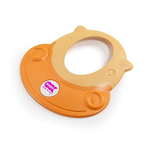OKBABY Hippo - Visiera Proteggi Occhi per il Bagnetto del Bambino 8-36 Mesi - Arancione