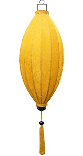 Lampionsenzo Vietnamesische Seide Lampion Mango Gelb by