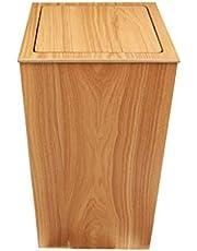 ゴミ箱キッチン, シェイクふたごみ木製のゴミ箱、シンプルクリエイティブ北欧スタイルのゴミ箱ホームリビングルームベッドルームオフィスストレージバケット廃棄物 トイレのゴミ箱