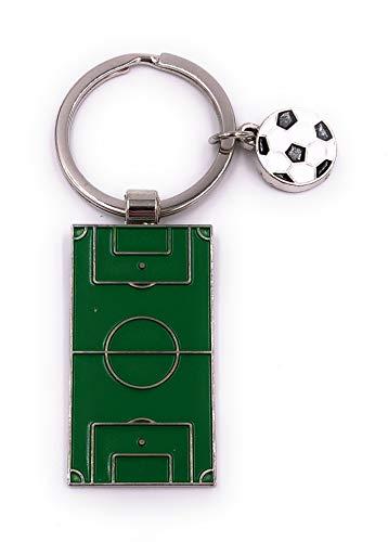 H-Customs Tischfussball Fußball Schlüsselanhänger Anhänger Silber aus Metall