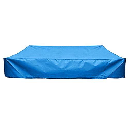 Yusea - Sandbox de protección cuadrada antipolvo para cubierta de arena, impermeable, con cordón 120CMx120CM azul