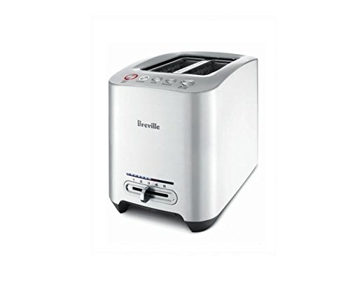 Breville BTA820XL Die-Cast 2-Slice Smart Toaster, Brushed Stainless Steel