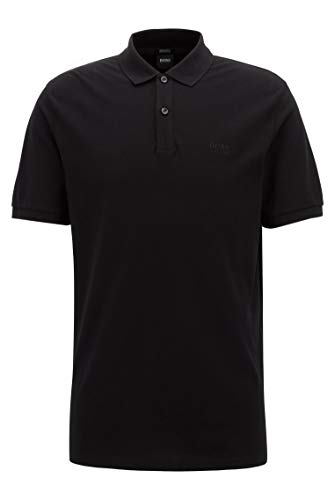 Photo of BOSS Mens Pallas Regular-fit Polo Shirt in fine piqué Black