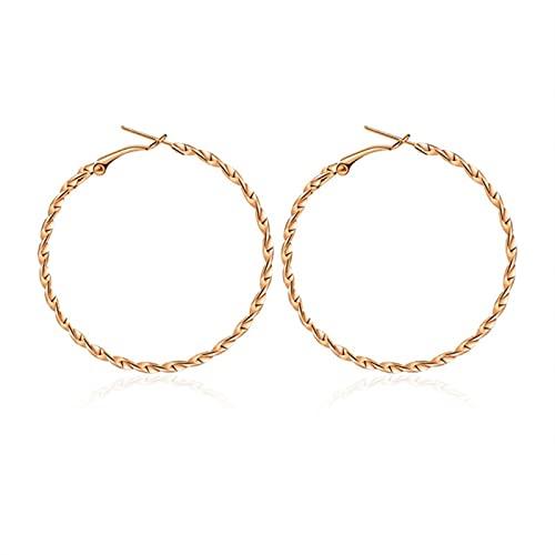 CXWK Pendientes de aro Grandes Dorados, Pendientes de Oro de Metal con geometría Coreana para Mujer, Pendientes de Gota Retro para Mujer, joyería de Moda de Tendencia