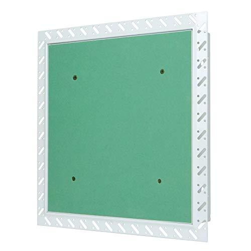 MW multi werkzeug Revisionsklappe 300 x 300 mm mit Gipskarton-Einlage imprägniert für Massivwand mit Einputzrahmen 30 x 30 cm