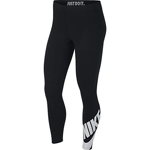 Nike W NSW Legasee Lggng 7/8 Futura Mallas, Mujer, Negro (Black/White), M (8-10)