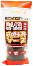 光食品『国産有機野菜・果実使用 関西風お好みソース』