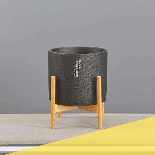 CQ Creatieve Nordic Cement Bloempot Eenvoudige Stijl Ademend Grote Diameter Ronde Groene Plant Met Kruis