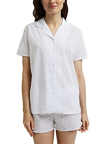 ESPRIT Pyjama mit Stickerei, 100{d49445a441feeb7d9f96a58c09bbbb8ca7b734db420212b619ffb7d82af26fb1} Organic Cotton